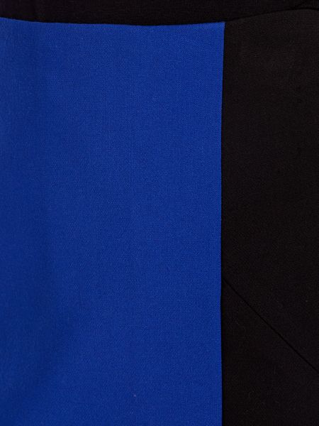 N/A Cobalt colour block pencil skirt