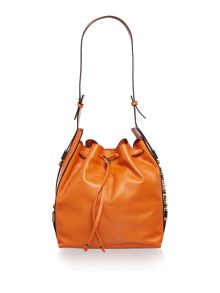 Just Cavalli Orange bucket bag