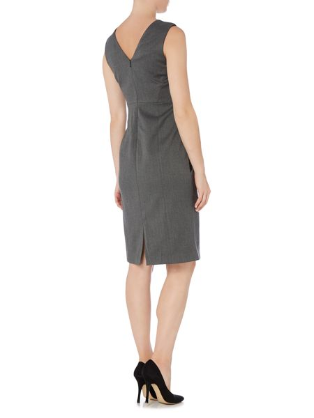 Ellen Tracy Sleeveless shift dress with lace detail