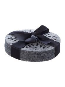 Linea GREY FELT COASTER S/4 - STAR DESIGN
