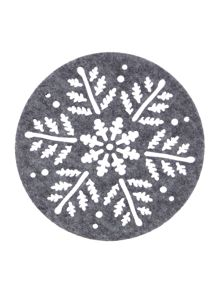 Linea Grey felt coaster star design set of 4