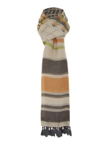 Pieces Aztec geo long scarf