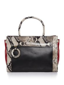 Just Cavalli Black snake ew tote bag