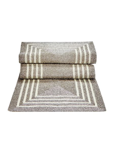 Linea Silver and cream beaded runner