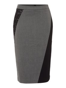 Ellen Tracy Lace insert pencil skirt