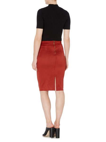 Therapy Polly Suedette Pencil Skirt
