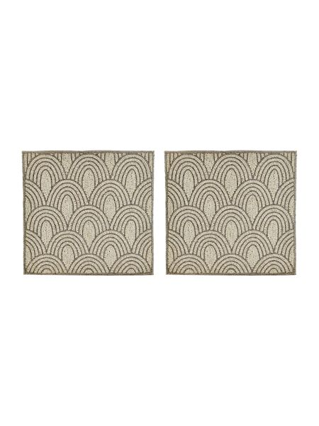 Linea Scallop beaded placemat set of 2