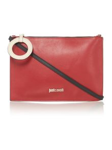 Just Cavalli Red clutch bag