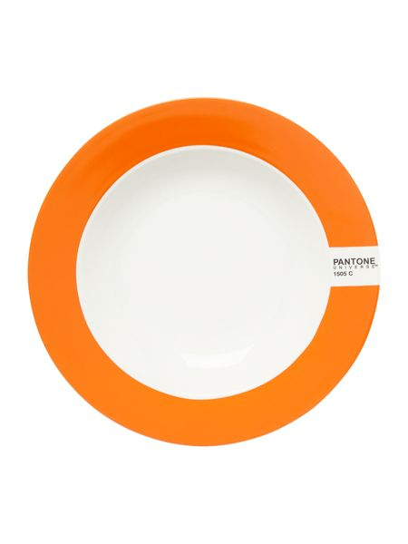 Pantone Soup plate luca trazzi orange