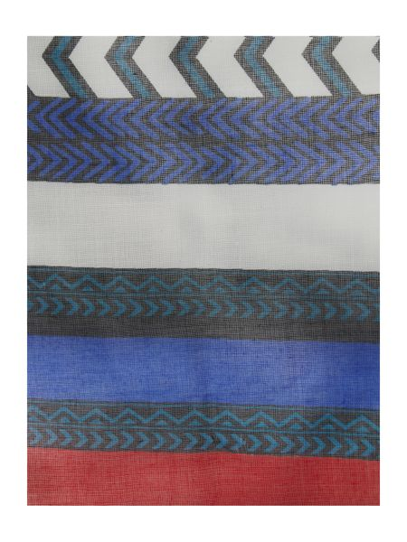 Pieces Striped long scarf