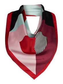 Lulu Guinness 50:50 lip silk square scarf