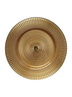 Champagne gold charger plate