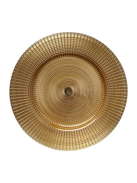 Linea Champagne gold charger plate