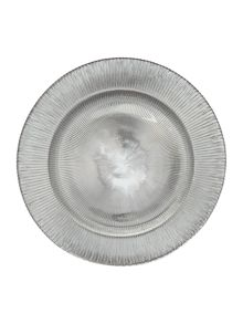Linea Silver charger plate