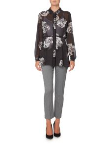 Ellen Tracy Button front printed tunic