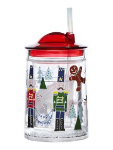 Linea Nutcracker tumbler with straw