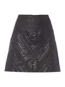 Label Lab Limited edition leather studded skirt