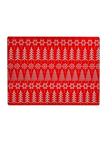 Linea Fairisle cork placemats set of 4