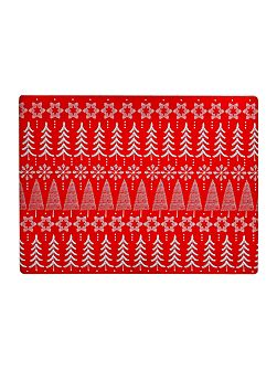 Fairisle cork placemats set of 4
