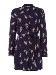 Dickins & Jones Lily Fox Print Shirt Dress