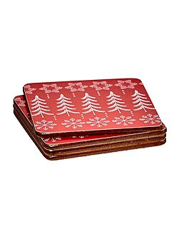 Fairisle design set of 4 coasters