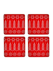 Linea Fairisle design set of 4 coasters