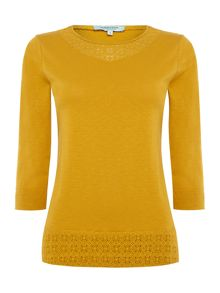 Dickins & Jones Laura Lace Insert Jersey Top