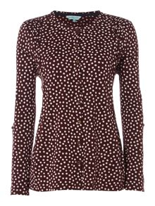 Dickins & Jones Stephanie Spot Print Jersey Top