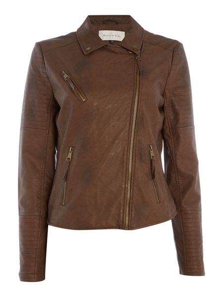Maison De Nimes Break Faux Leather Jacket