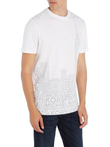 Michael Kors Slim fit skyline logo printed t shirt