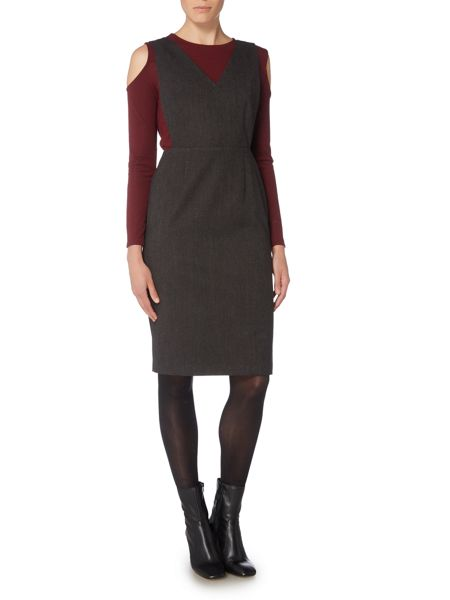 Therapy Eden Grey Pinafore Dress