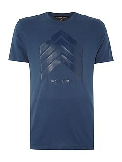 Slim fit chevron logo printed t shirt