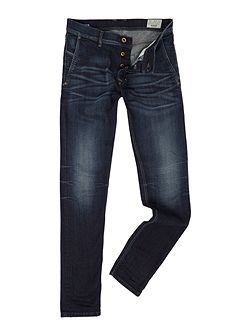 Kakee 853V slim carrot fit dark blue washed