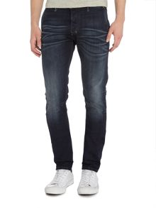 Diesel Kakee 853V slim carrot fit dark blue washed jean