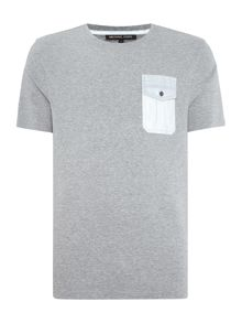 Michael Kors Slim fit relfective pocket t shirt