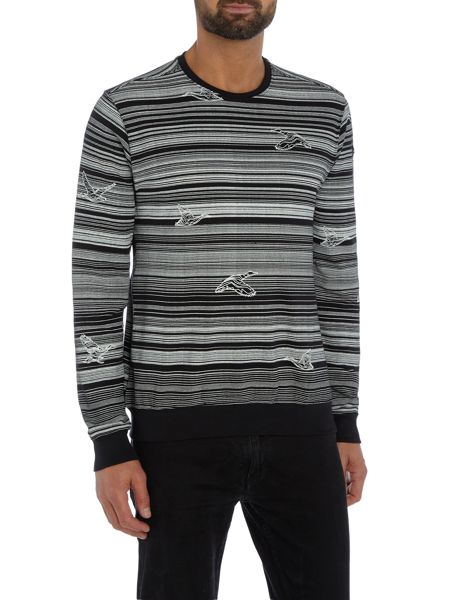 Duck and Cover Rotation crew neck sweat
