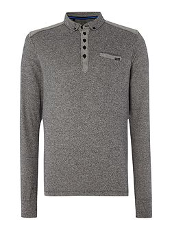 Foxtrot long sleeve carbonic polo shirt