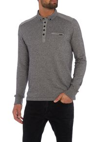 Duck and Cover Foxtrot long sleeve carbonic polo shirt