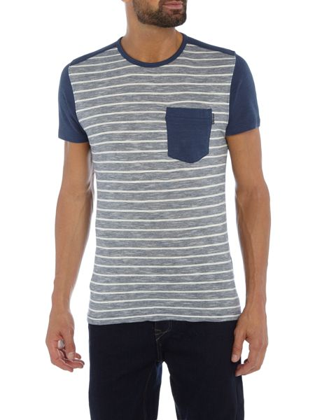 Duck and Cover Alfa colour block t-shirt with pocket