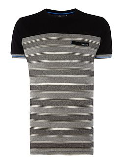 Animatrix two tone pique stripe t-shirt
