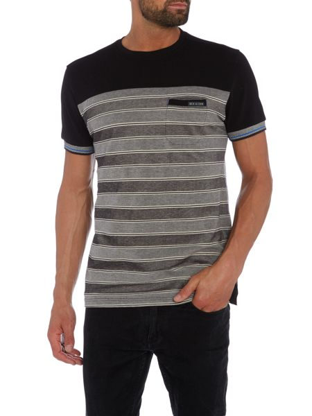 Duck and Cover Animatrix two tone pique stripe t-shirt