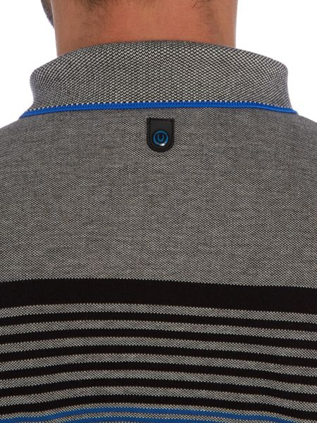Duck and Cover Affusion stripe polo shirt