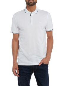 Michael Kors Slim fit tipped logo polo shirt