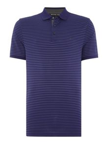 Michael Kors Slim fit striped logo polo shirt