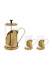 Linea Lusso 8 cup cafetiere and cup set