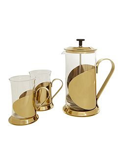 Lusso 8 cup cafetiere and cup set