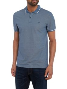 Michael Kors Slim fit contrast trim polo shirt