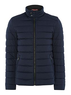 Quilted Bomber Coat