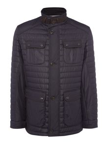 Bugatti Four-Pocket Mid Length Quilted Coat
