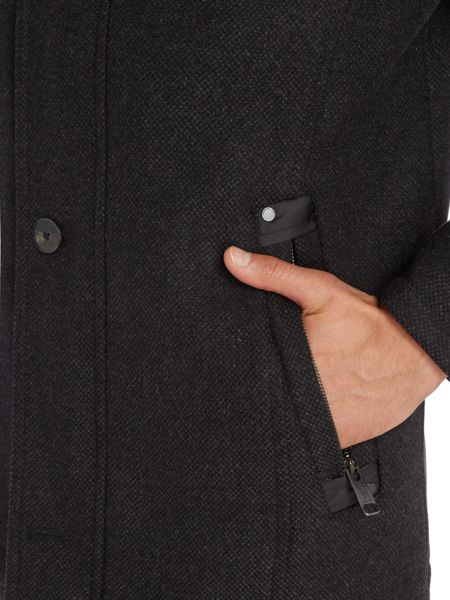 Bugatti Wool Coat with Quilted Lining